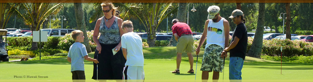 Plantation Days Putting Contest - Koloa Plantation Days, Kauai, Hawaii