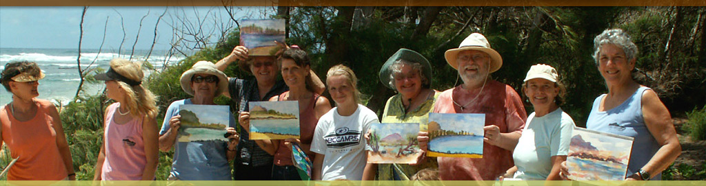 Watercolor Class at Mahaulepu - Koloa Plantation Days, Kauai, Hawaii